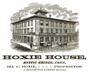 The historic Hoxie House before being rebuilt as part of The Whaler's Inn